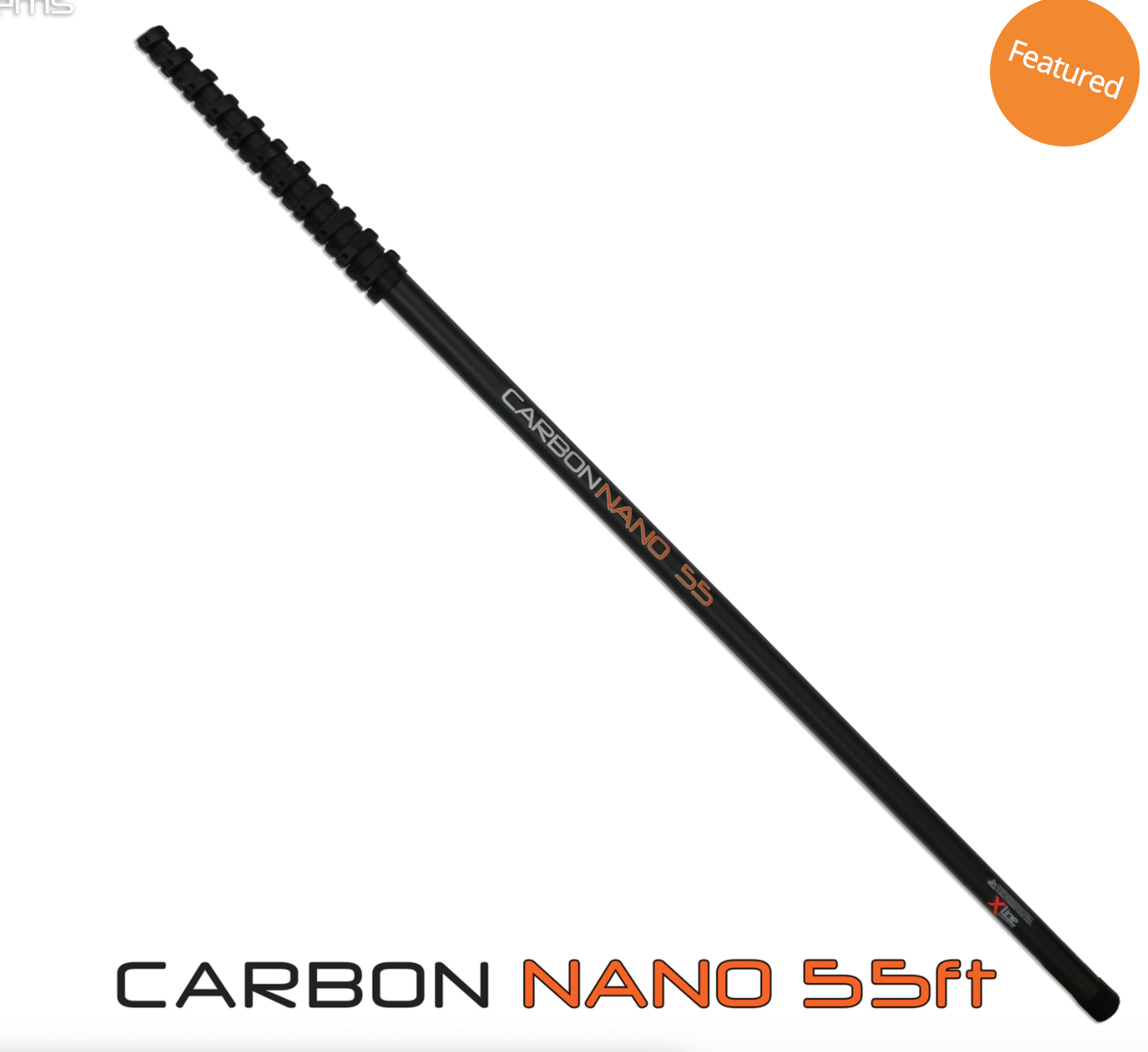 55ft Carbon Nano Water Fed Pole