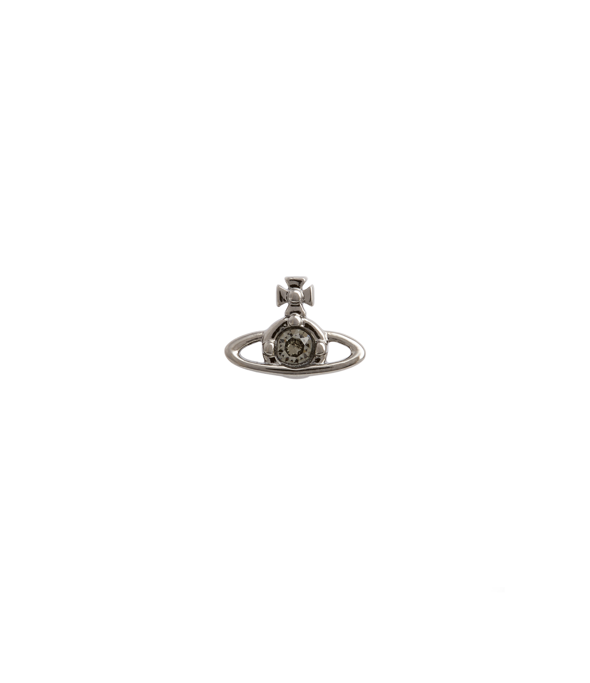 Vivienne Westwood BLACK NANO SOLITAIRE SINGLE STUD