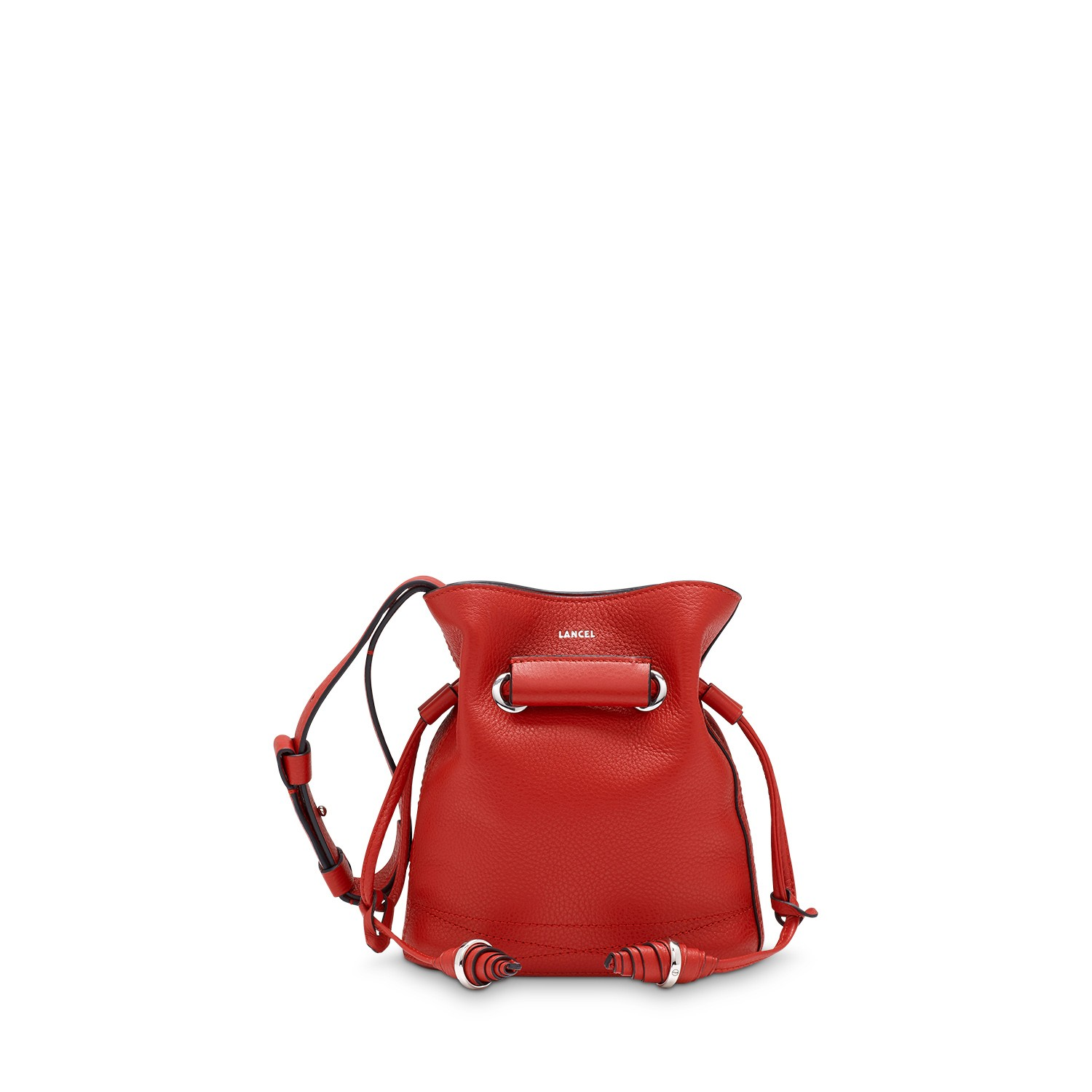 Le Huit de Lancel Bucket bag Rouge